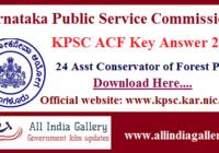 KPSC ACF Key Answer 2020