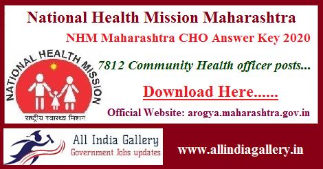 NHM Maharashtra CHO Answer Key 2020