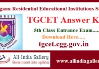 TGCET Answer Key