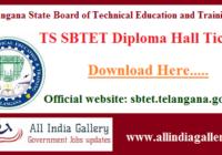 TS SBTET Diploma Hall Ticket