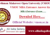 VMOU MBA Entrance Answer Key