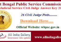 WB Judicial Service Civil Judge Answer Key 2020