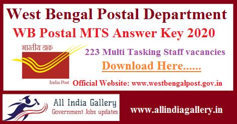 WB Postal MTS Answer Key