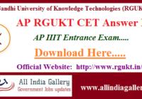 AP RGUKT CET Answer Key