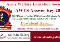 Army Public School Answer Key 2020