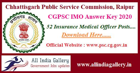 CGPSC IMO Answer Key 2020