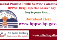 HPPSC Drug Inspector Answer Key 2020