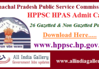 HPPSC HPAS Admit Card