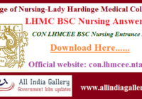 LHMC BSC Nursing Entrance Answer Key