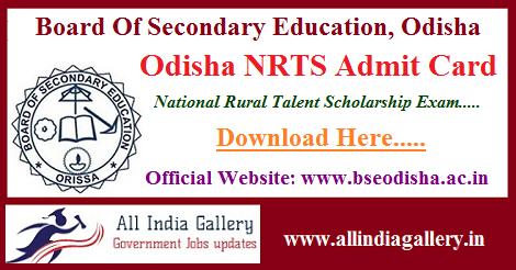 Odisha NRTS Admit Card