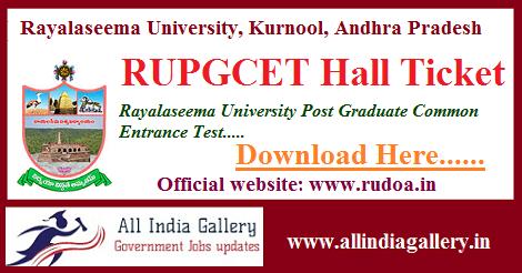 RUPGCET Hall Ticket