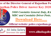 Rajasthan Police Driver Answer Key 2020