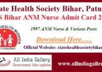 SHSB ANM Admit Card 2020