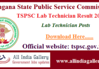 TSPSC Lab Technician Result 2020