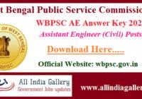 WBPSC AE Answer Key 2020