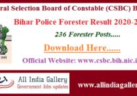 Bihar Police Forester Result 2020-2021