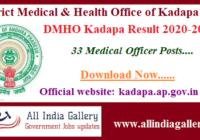 DMHO Kadapa Result 2020-2021