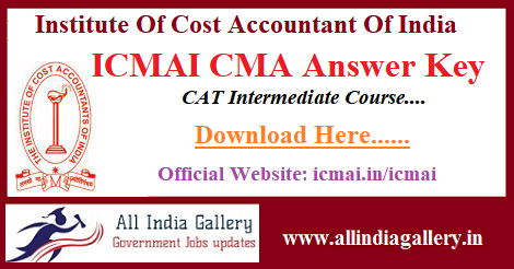 ICMAI CMA Answer Key