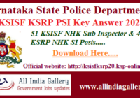 KSISF PSI Key Answer 2020
