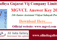MGVCL Junior Assistant Answer Key 2020