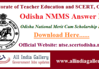 Odisha NMMS Answer Key