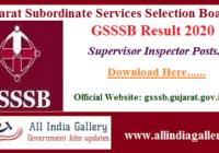 Ojas GSSSB Supervisor Instructor Result 2020