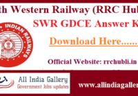 SWR GDCE Answer Key