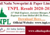 TNPL Semi Skilled Worker Result 2020-2021