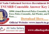 TNUSRB Constable Answer Key 2020