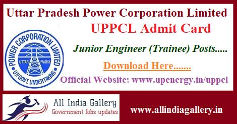UPPCL JE Admit Card