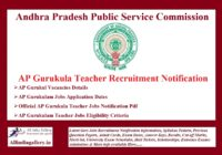 AP Gurukula Teacher Recruitment Notification