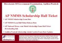 AP NMMS Hall Ticket