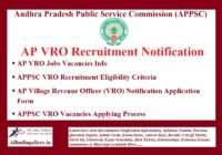 AP VRO Recruitment Notification