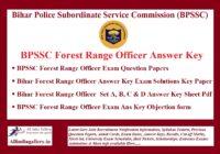 BPSSC Forest Range Officer Answer Key