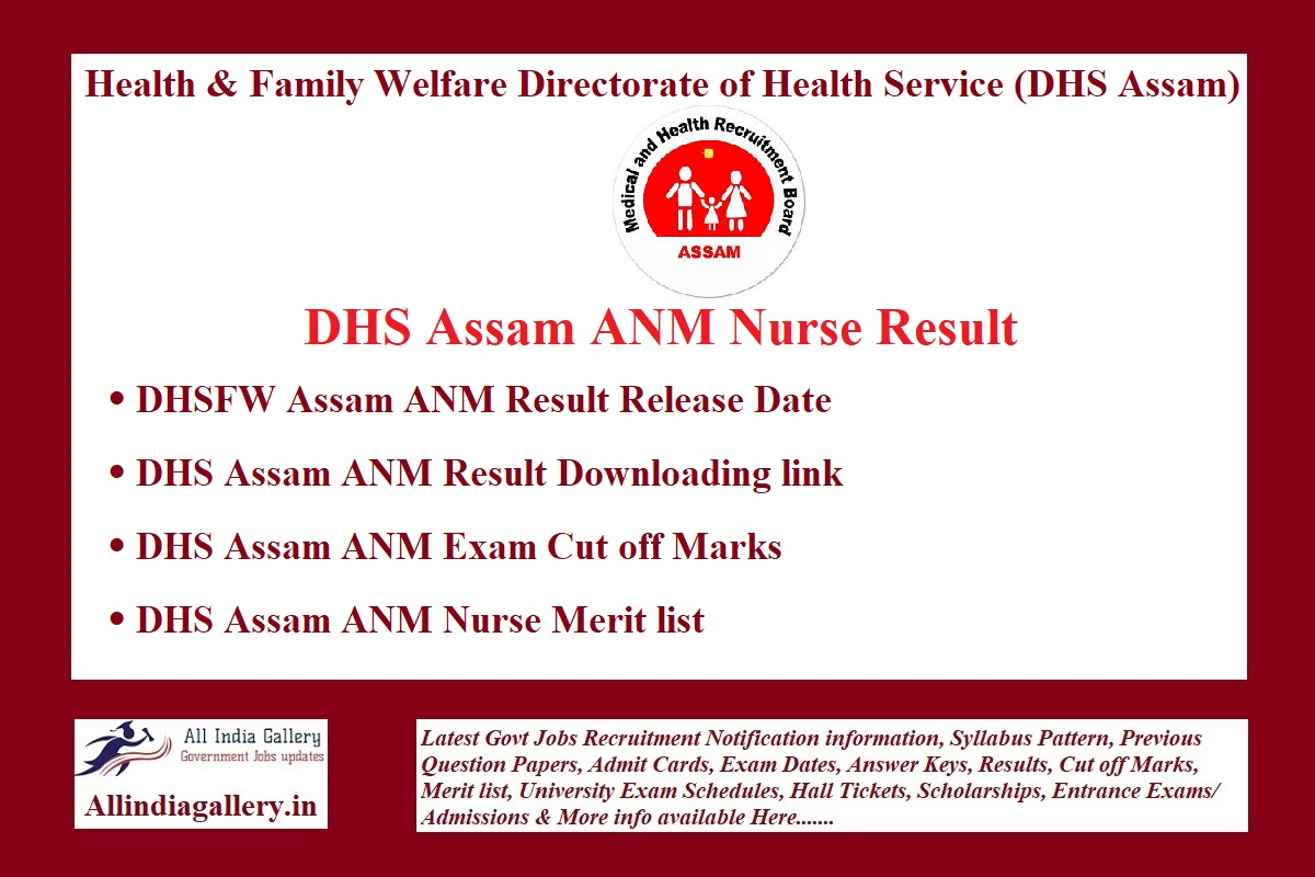DHS Assam ANM Result