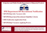 HP IPH Recruitment