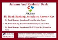 JK Bank Banking Associates Answer Key