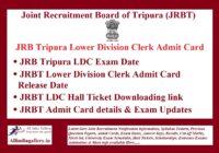 JRBT LDC Admit Card