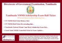 TN NMMS Hall Ticket