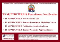 TS MJPTBCWREIS Recruitment Notification