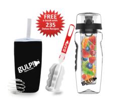 gulp!™ Fruit Infuser Water Bottle Platinum Edition