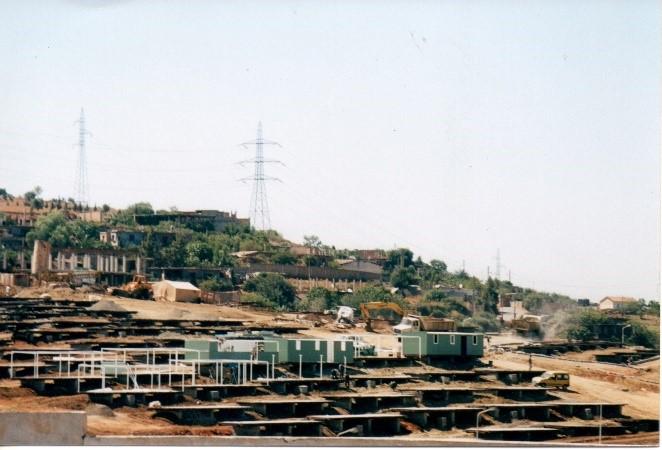 Trabajos de montaje de viviendas de Boumerdès