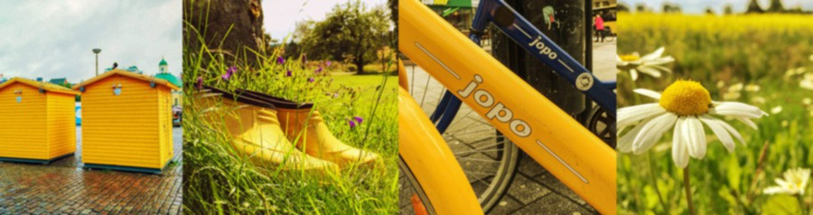 keltainen väri kollaasissa ©Marju Aavikko