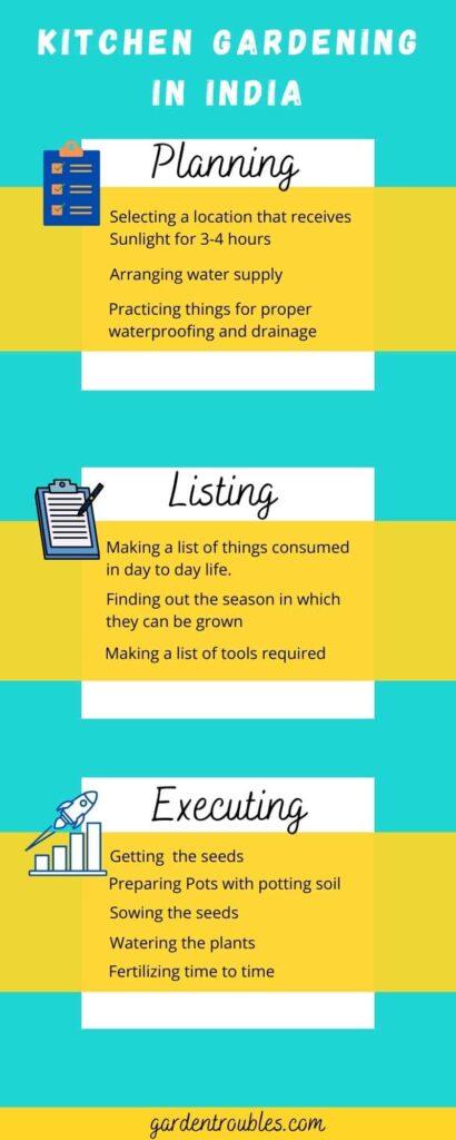 Kitchen Gardening Infographic