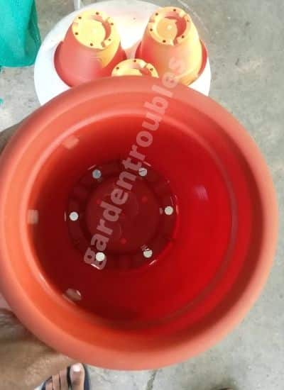 pot with drainage holes