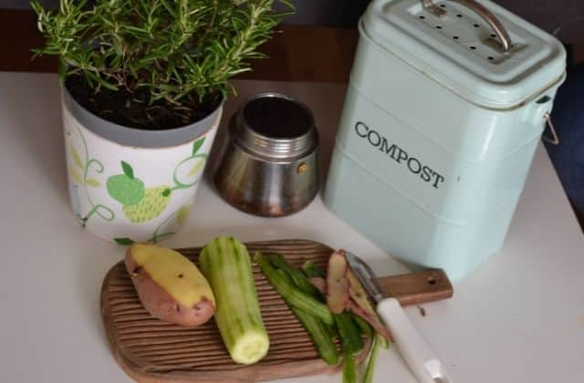 Making compost from kitchen waste at home in india