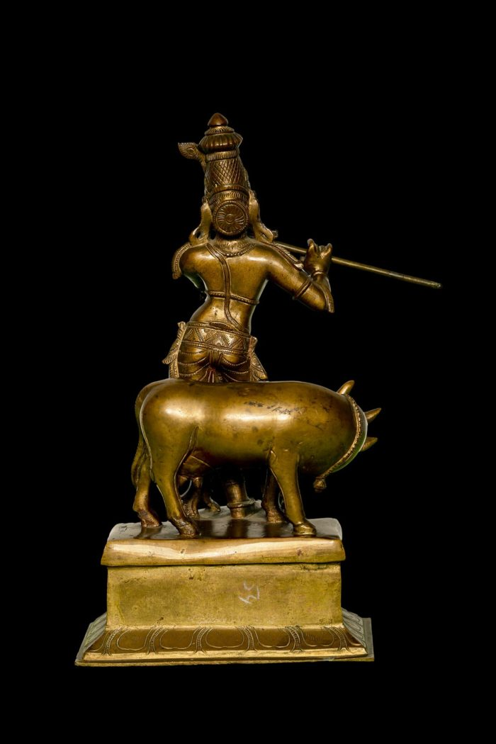 Krishna with Cow 12 Inch- Rear View