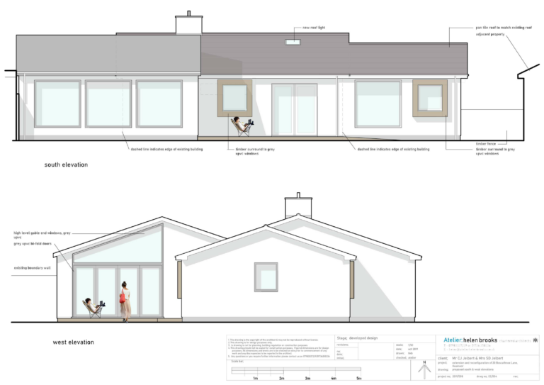 proposed elevations to contemporary bungalow penzance