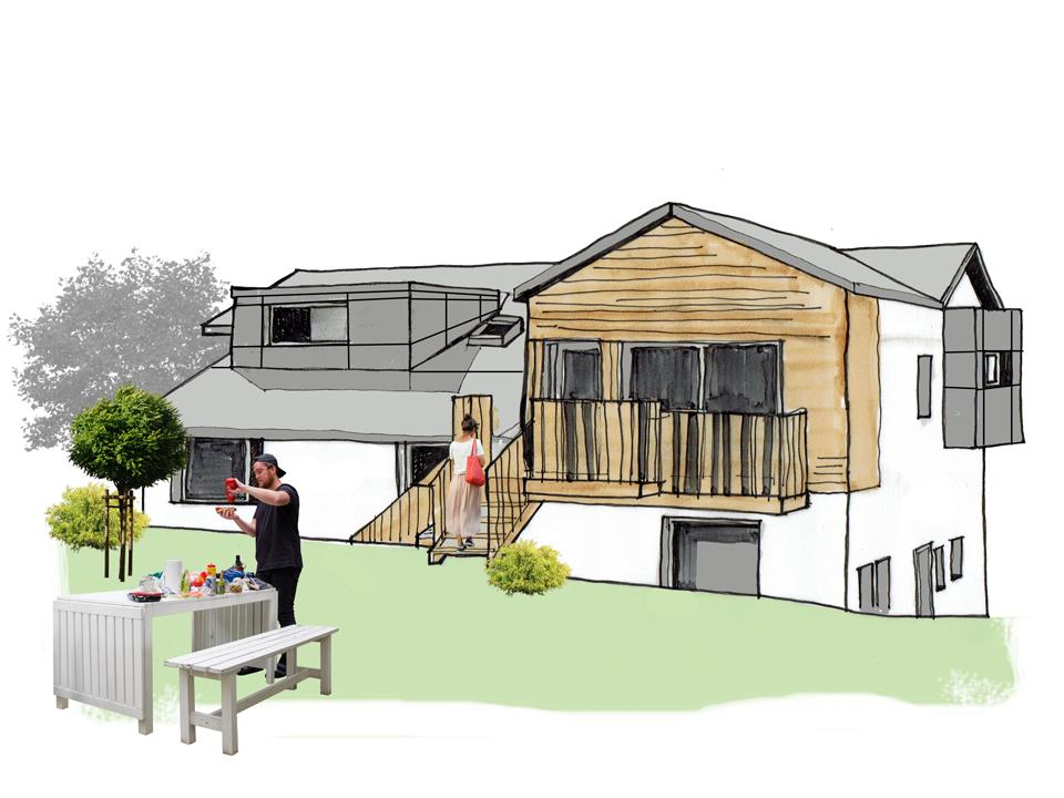 sketch garden elevation
