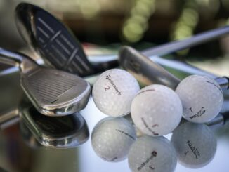 golf balls on table